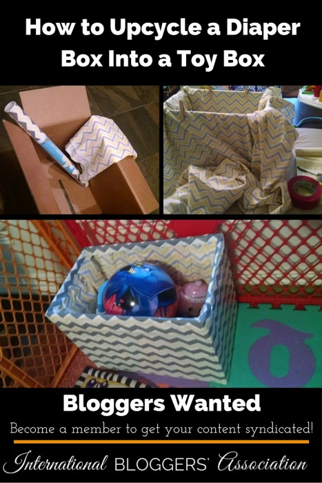 How to Upcycle a Diaper Box Into A Toy Box