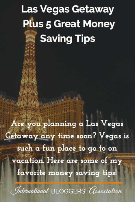 Are you planning a Las Vegas Getaway any time soon? Vegas is such a fun place to go to on vacation. Here are some of my favorite money saving tips!