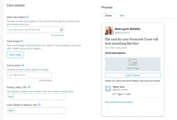 Create-Lead-Generation-card - HOW TO GROW YOUR EMAIL LIST WITH TWITTER