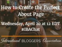 How to Create the Perfect About Page! #IBAchat