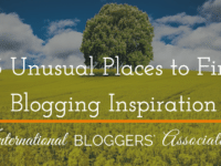 Where do you find blogging inspiration? Here's a great list of Unusual Places to Find Blogging Inspiration, sure to help you find the inspiration you need the next time you're struggling to find something to write about.