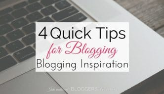 4 Quick Tips for Blog Inspiration by #IBAchat