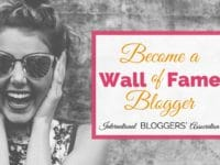 Are you ready to become a wall of fame blogger? Enter now to get your writing and blog featured by IBA! It is the perfect way to add a boost to your blog.
