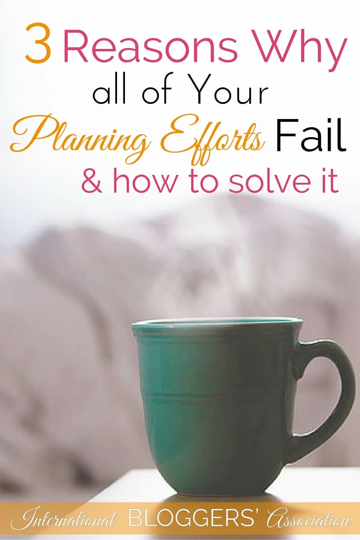 You've bought that gorgeous planner... have multiple calendar apps on your phone... notes everywhere... but no matter what you try all your planning efforts fail. How can you solve it? Don't worry you can become organized again.