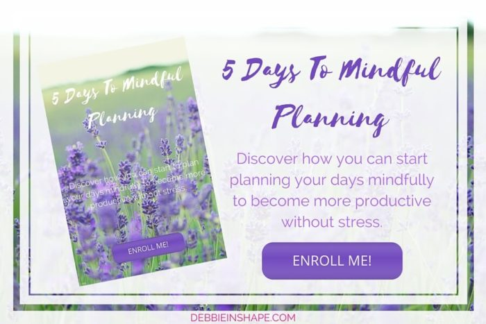 5 Days to Mindful Planning