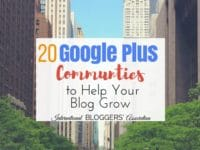 20 Google+ Communities to Help Grow Your Blog. Great list of Google Plus communities for bloggers to learn, network and share posts.