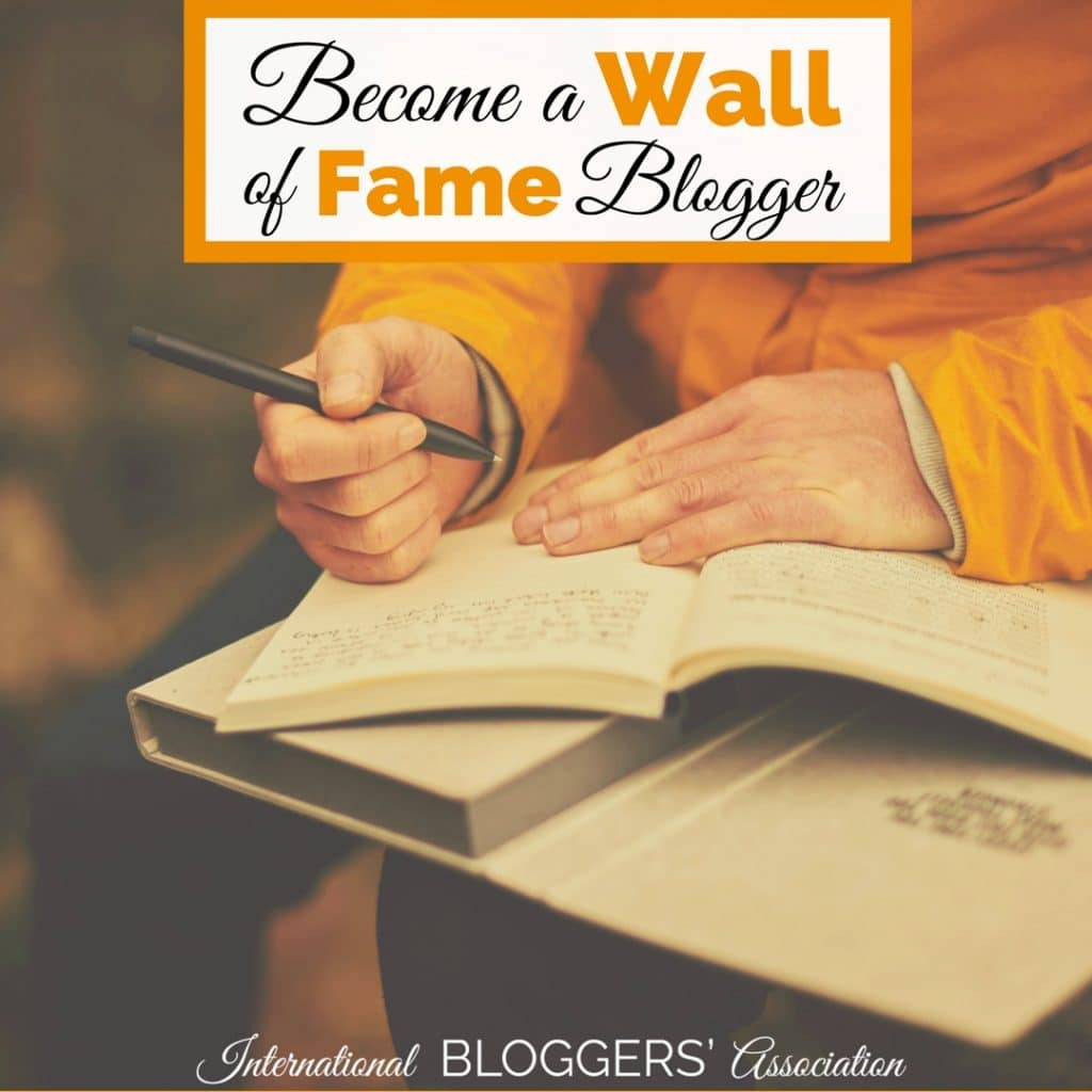 Are you ready to become August's wall of fame blogger? Enter now to get your writing and blog featured by IBA! It is the perfect way to add a boost to your blog.