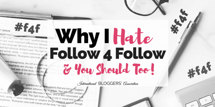 Why I Hate Follow 4 Follow and You Should Too!