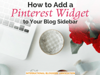 Adding a Pinterest widget to your blog sidebar is easy! Read this tutorial with images to find out exactly how to do this today!