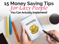 Saving money doesn't have to be hard or even exhausting! With these 15 money saving tips for lazy people, we can all find new ways to save!