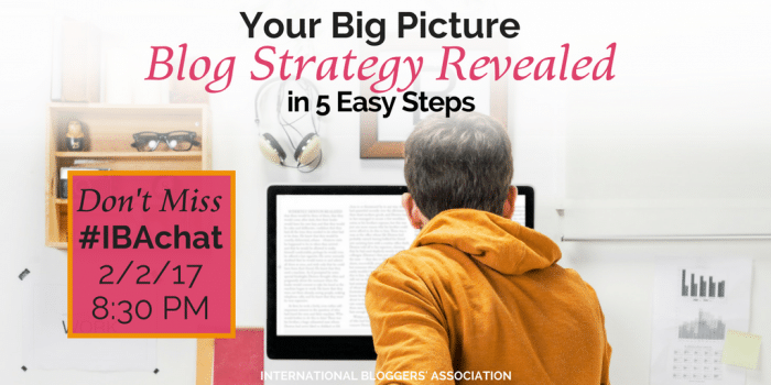 Your Big Picture Blog Strategy Revealed in 5 Easy Steps