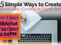 In this week's #IBAChat, we'll discuss 5 ways to create crave-able content in every blog post. By varying blog post styles, you can increase your reach and readership as well as build your brand, community and improve your SEO. Blogging tips | content creation