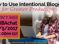 In this week's #IBAChat, we'll discuss 5 tips to increase productivity with intentional blogging. We'll discuss how reconnecting with your blog's purpose can help increase efficiencies and lower stress levels.