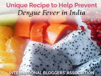 If you're traveling to India, dengue is a serious illness that is transmitted through mosquitoes. UK from Fashionable Foods has a recipe to prevent dengue.