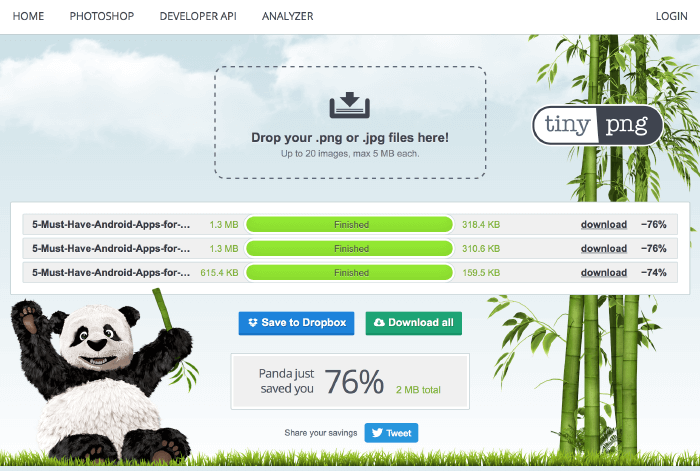 TinyPNG is a great way to compress your blog images!