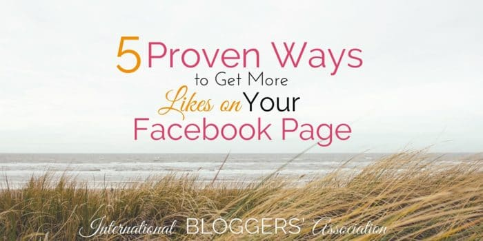 Have you been struggling with Facebook page likes? They can be really hard to get, but these 5 tried and true ways will make that happen!