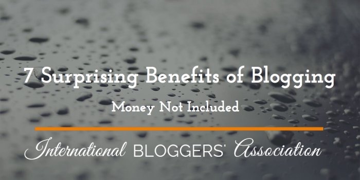 So ofter we don't realize the benefits of something till after we start it. Here are 7 benefits of blogging that I have come to greatly enjoy and they even surprised me!