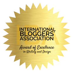 International Bloggers' Association Award of Excellence in Writing and Design