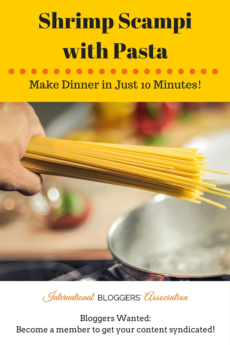 Easy 10 Minute Shrimp Scampi with Pasta