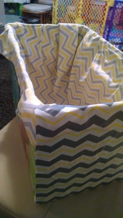 How to Upcycle a Diaper Box Into a Toy Box!