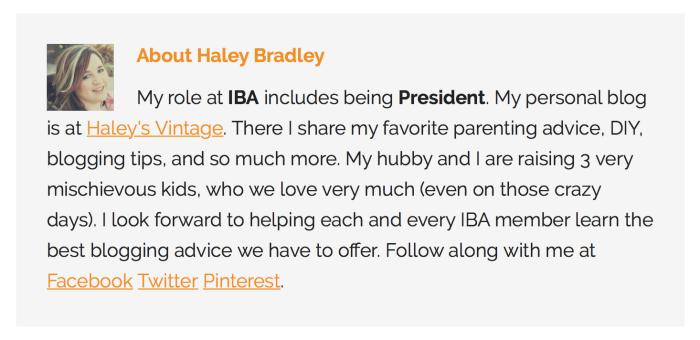 Haley Bradley Author Box