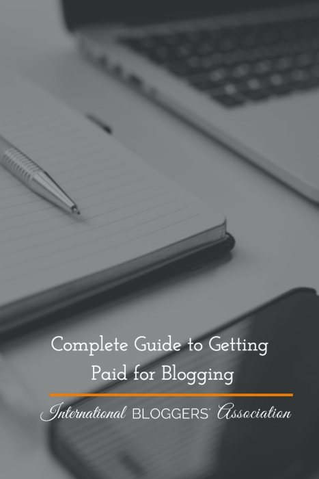 Getting Paid for Blogging is not something that happens overnight. There's a lot to blogging that most people don't realize. To learn more, read this Complete Guide to Getting Paid for Blogging.