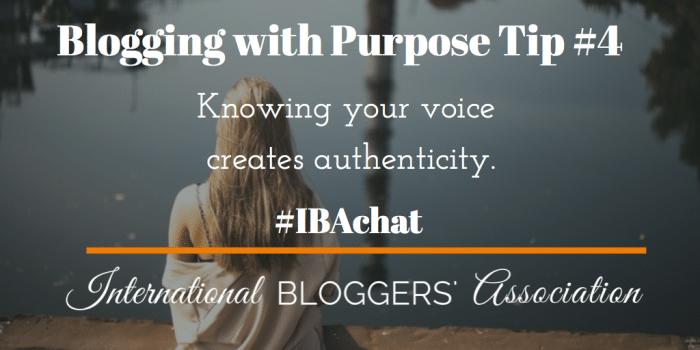 Blogging with Purpose 4
