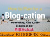 Load up the car and head for your next vacation, but how should you prepare your blog? Learn all the best tips for your blog-cation during our #IBAchat!