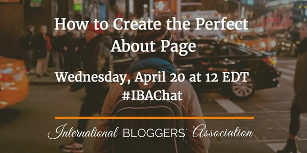 How to Create the Perfect About Page #IBAchat Recap