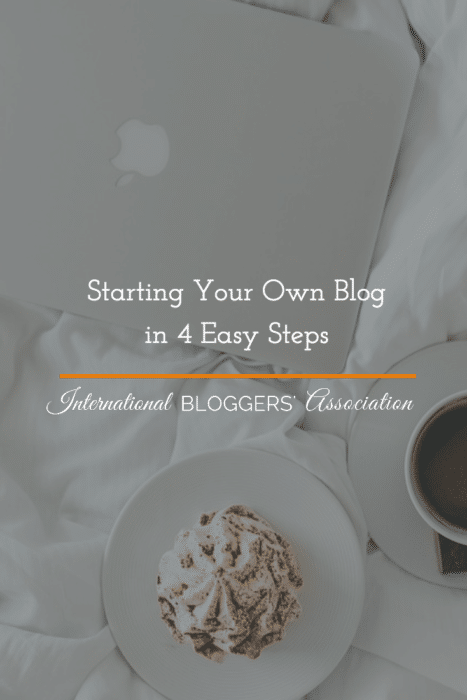 Always thought of starting your own blog but didn't know how? These 4 easy steps will have you set up and ready to go in no time at all! What are you waiting for? Start blogging today!
