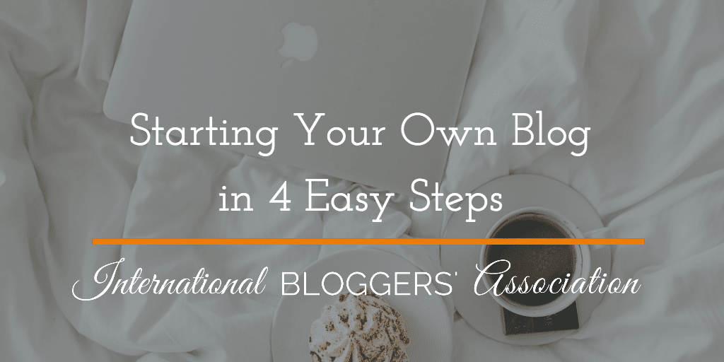 Have you always wanted to start your own blog? Starting Your Own isn't hard. Just follow these 4 easy steps and you'll be set up and ready to go in no time at all!