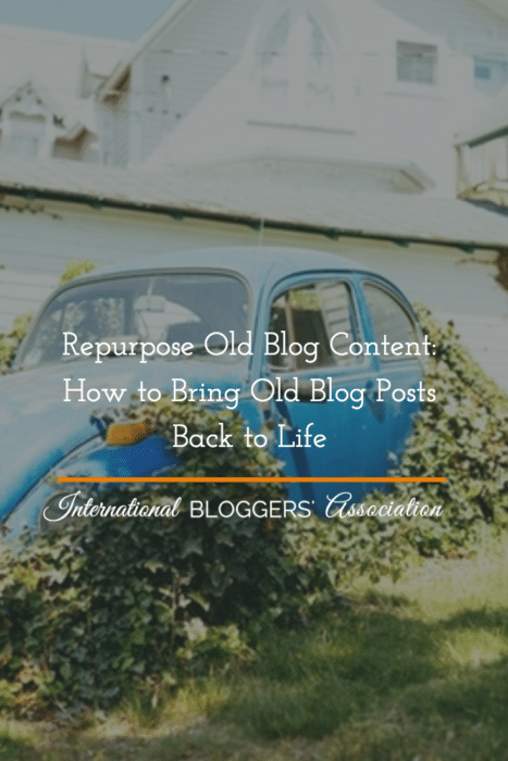 No time to write new posts but don't want to let your blog stagnate? Did you know you Repurpose Old Blog Content with little effort? Here's how!