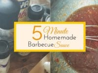 Do you need a quick summertime bbq sauce? Today's how to recipe is all about homemade barbecue sauce! This sauce only takes 5 minutes to make and is free of all those nasty ingredients you want to avoid. Summertime never tasted so good!