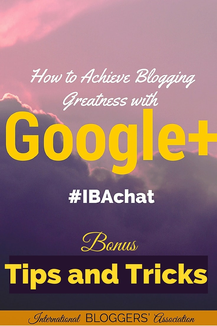 With recent changes to Google Plus, this turned out to be a super-charged, info-packed chat.    Grow your followers with these Google Plus tips and tricks! These 6 tips will help you super-charge your Google Plus account and significantly increase your following and influence. Google + communities, collections, circles, and hashtags are discussed. Blogging Tips | Social media Tips | Biz Tips