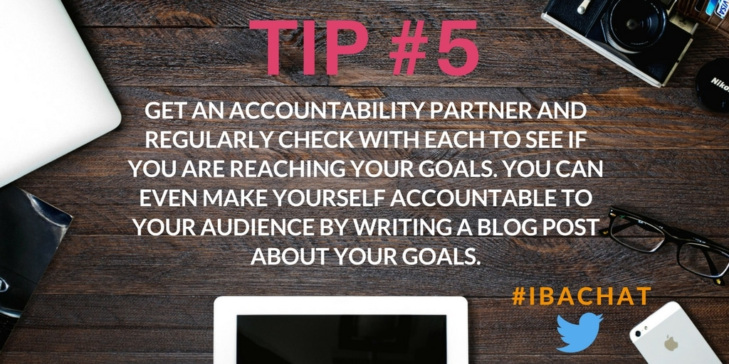 Are you making the most of your goals? Let's start our month out on the right foot by goal setting for success! With proper goals, your blog can soar! Learn from seasoned bloggers during #IBAchat!