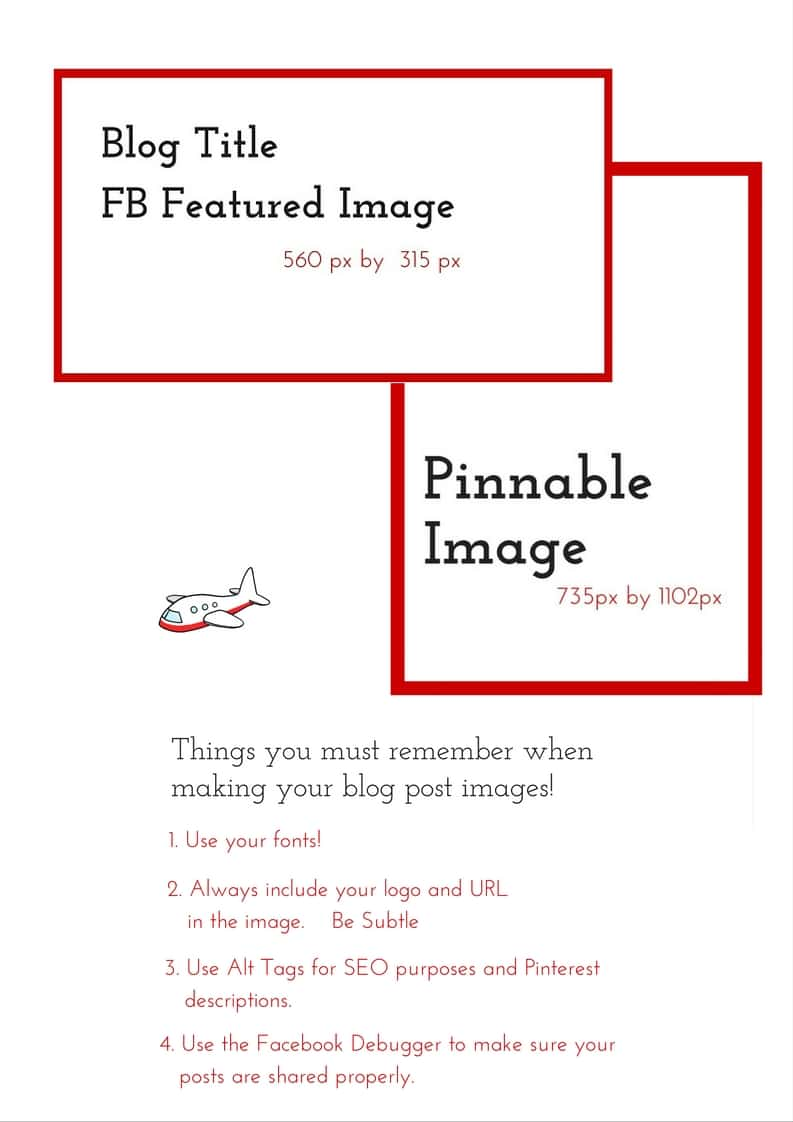 An image checklist - Ever wondered what's the perfect combination of graphics and photos for your blog posts? These simple rules can help you figure it out once and for all!