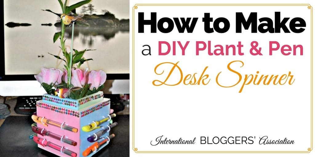 DIY Plant & Pen Desk Spinner: Do you have someone who loves adult coloring? Or maybe constantly look for a pen? Look no further, and make them this super cute DIY Plant and Pen Desk Spinner!