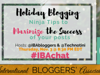 Join us this week for our #IBAChat where we'll discuss ways to successfully maximize holiday blog posts by creating audience-centered material and products!