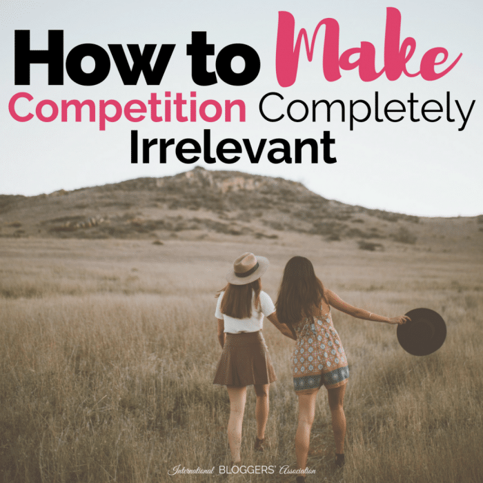 Worry about the competition? Focus on teamwork and collaboration and learn how to make competition completely irrelevant then watch your business grow!