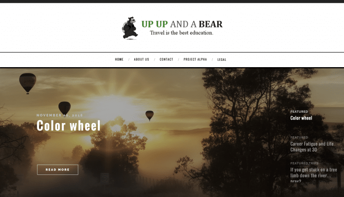 Up Up and a Bear