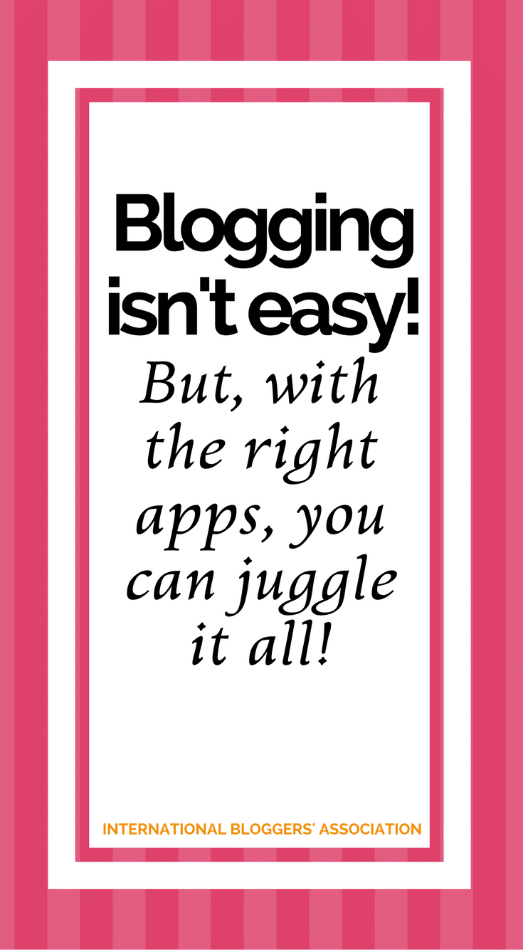 Blogging isn't easy! These 5 Must-Have Apps for Bloggers can help make your life as a blogger a whole lot easier, when and where it matters most!