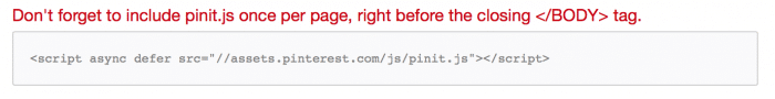 How to Add pinit.js for Pinterest Widget