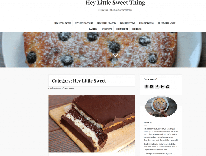 Meet the mum behind the blog Hey Little Sweet Thing - A little blog about life and family, with a little dash of sweetness.