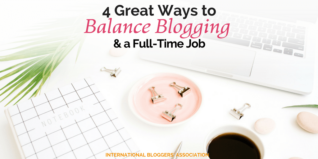 Life is busy! Finding ways to balance blogging and a full-time job can be tricky, but with my four tips, you can be off to a great start.