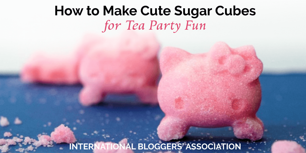"My DIY sugar cubes were a huge hit at our little tea party! See how easy it is to make my 5-minute DIY sugar cubes that will really ""up your party"" game."