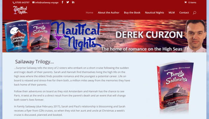 Today's member interview is with Derek Curzon from Nautical Nights a fictional cruise blog, which takes a light-hearted look aboard a cruise ship.