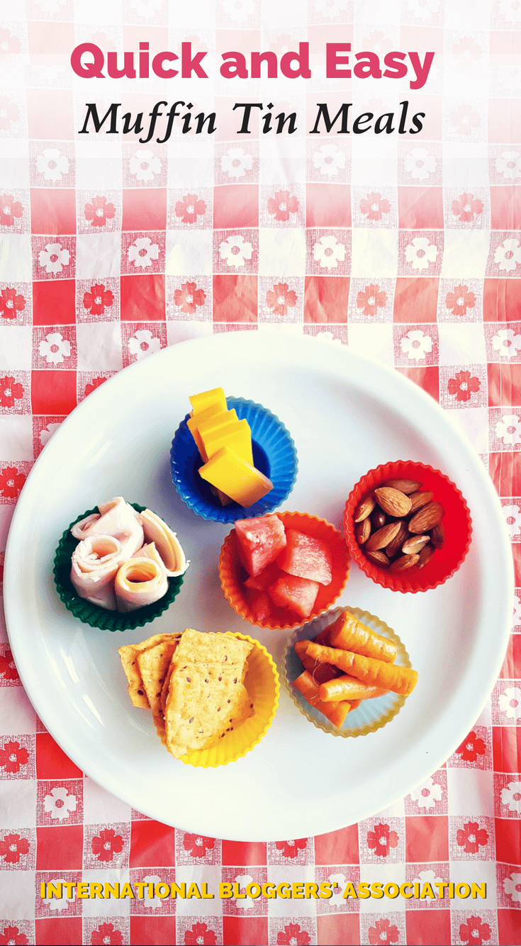 For a quick and easy meal your kids are sure to love, put snacks or leftovers into cupcake wrappers and serve! #muffintinmeals #kidsmeals #kidssnacks