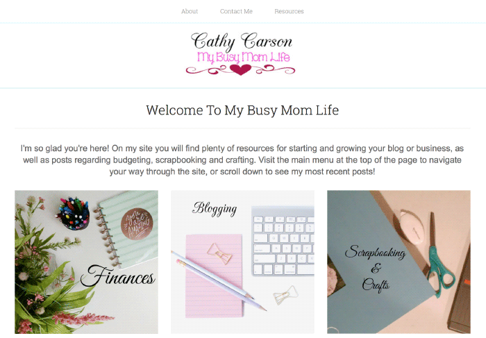 Today we have a member interview from Cathy of My Busy Mom Life. Cathy is a busy working mom who loves scrapbooking, crafts, and a lot more.