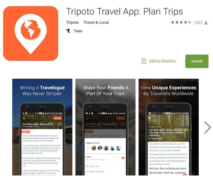 Tripoto Travel App