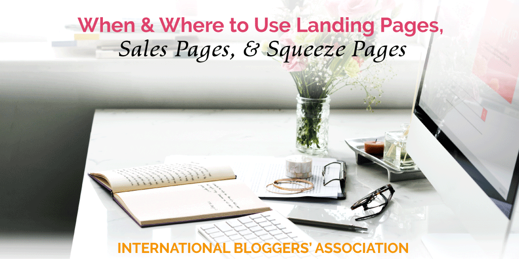 Should you use landing pages, sales pages, or squeeze pages on your blog? We will teach you their pros and cons, plus when and where you should use them.